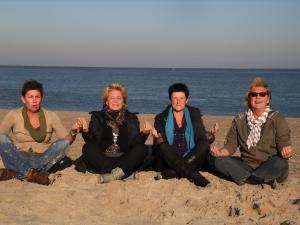 Meditation am Strand von Texel